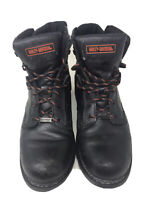 Mens HARLEY DAVIDSON Black Leather Motorcycle Biker Boots 94094 Size 11 GUC