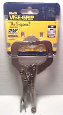 "Vise-Grip 6"" Locking C-Clamp with Regular Tips 6R"