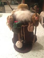 """Vintage Bronson Brown Woodland Themed Old Time Santa Claus Father Christmas 11"""""""