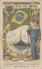 BRAZIL SAO PAULO 1913 TUDO DELA PATRIA 1913 ENTREGA DA BANDEIRA NACIONAL