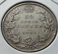 1917 King George V Canadian Silver Quarter