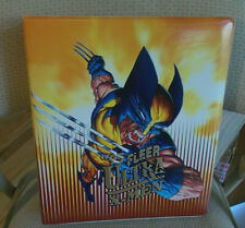 1995 FLEER ULTRA MARVEL X-MEN TRADING CARD 3-RING FACTORY BINDER WITH WOLVERINE