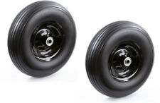 No Flat Wheelbarrow Replacement Wheel Carts 13 In 2-Pack 5/8 in and 3/4 in Axles
