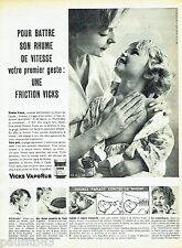 PUBLICITE ADVERTISING 076  1959  Vicks Vaporub pour battre son rhume