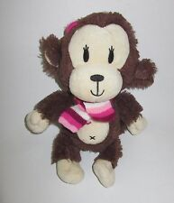 The Childrens Place Monkey Brown Plush Striped Scarf Pink Retired TCP Soft Toy