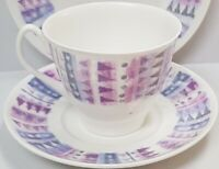 Vintage Shelley China Fiord Cup and Saucer c1945-66 Made in England PN 14280