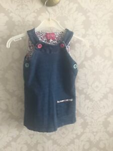 Lovely Girls Joules Pinafore Aged 12-18 Months Denim