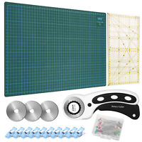 45mm Rotary Cutter Tool Kit Precise Ruler A3 Cutting Mat / Replacement Blades
