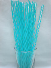 """20 Reusable Straws 5 of Each Color Acrylic 9"""" Straws + Cleaning Brush - BPA Free"""