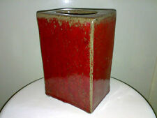 Schwere Vase Heavy Vase Unknown Studio Keramik Pottery Rechteckig Rectangular E