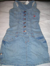 New Juniors Mecca Femme Denim Summer Jean Dress Medium