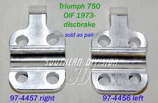 Triumph Bottem Fork Cap Pair OIF 73-85 Disc 97-4456 97-4457 t140 t150 tr7 t160