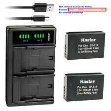 Kastar Battery LTD2 USB Charger for Canon LP-E17 LC-E17 & Canon EOS M6 Mark II