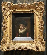 Antique Miniature Portrait Oil Painting Giltwood Gesso Frame C1820