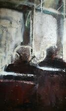 Dawn Commute.  Original Mixed Media Painting on Canvas