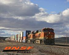 BNSF Evening Stacks Train Sturdy Metal Sign Logo Photo