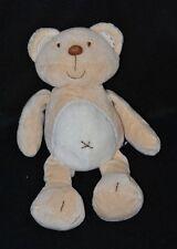 Peluche doudou ours KIABI beige ventre blanc 28 cm Etat NEUF