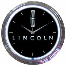 LINCOLN  Neon Clock - Ford Hot Rod Navigator Town Car Lamp Lighted Wall Art Sign
