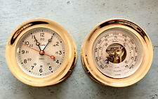 "Large Boston Quartz Ships Clock and Barometer ( Chelsea ""Boston Series"" )"