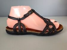 Naot Gray Beaded Buckle Strappy Sandals Womens 37 6.5-7