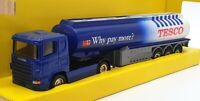 Corgi 1/64 Scale 010625 - Scania Petrol Tanker Tesco - Blue