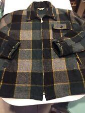 VTG 70s WOOLRICH Wool Hunting Jacket M/L 44 Plaid Tartan Zip