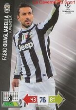 U50 FABIO QUAGLIARELLA JUVENTUS  CARD CHAMPIONS LEAGUE ADRENALYN 2013 PANINI