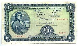 Ireland (P66d) 10 Pounds 1976