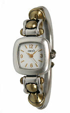 Chico's Women's Antique Two-Tone Hinged Bangle Watch CH-237. New and unworn.