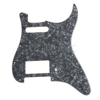 Black Pearl Guitar Pickguard for Fender Strat Parts HS Humbucker Single 3 Ply