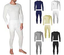 Men's 2PC Top & Bottom 100% Cotton Waffle Knit Long John Thermal Underwear Set