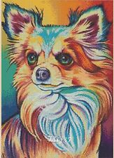 Cross Stitch Chart - Colourful Chiwawa pop art No. 392 .TSG37