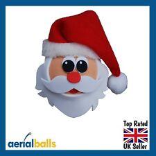 Xmas Christmas Jolly Santa Car Aerial Topper Ball Antenna or Dashboard Wobbler