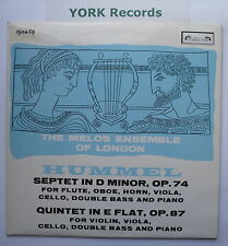 SOL 290 - HUMMEL - Septet / Quintet MELOS ENSEMBLE OF LONDON - Ex Con LP Record