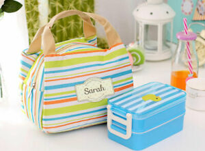 Personalised Thermal Cooler Named Insulated Lunch Bag Box Kids Adults