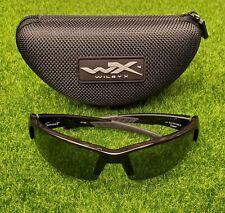 Wiley X WX Saint Sunglasses, Polarized Green Lens / Gloss Black Frame - CHSAI04