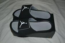 Air Jordan hydro 6  sandals 881473-011 black gray sz 12