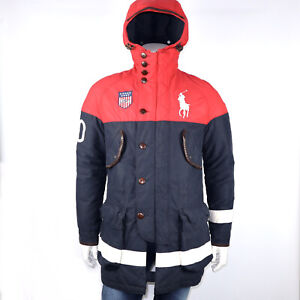 POLO RALPH LAUREN TEAM USA VANCOUVER OLYMPIC DOWN HOODED COAT