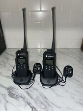 Pair (2) Motorola Dtr550 Digital Portable Two Way Radio - Black