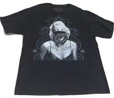 187 Inc Avenue Marylin Monroe Tatted Up Black Shirt Sleeve T Shirt Men Sz XL