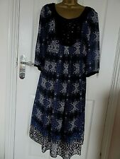 "NEW.W.O.T FABULOUS CHIFFON/BEADED DRESS BY PER UNA UK-16 BUST 40""  LENGTH 44"""