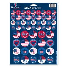 """U.S.A. AMERICAN FLAG 56 PIECES 8.5""""x11"""" ULTIMATE STICKER SHEET NEW WINCRAFT"""