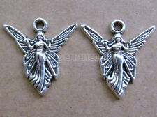 20x Retro Tibetan Silver Angel Pendant Charms DIY Jewellery Accessories /106