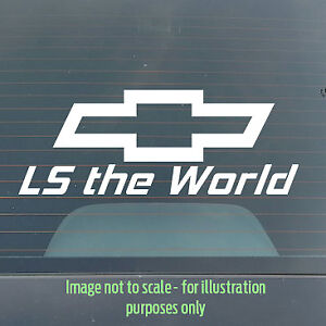 Custom 200mm Chevrolet LS Holden Toolbox Tacklebox Decal / Sticker