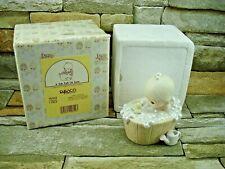 "1986 Enesco Precious Moments "" A Tub Full of Love "" Porcelain Vintage Figurine"