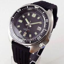 44 мм-tandorio стерильный светящийся черный циферблат NH35 автоматический стальной дайвинг мужские часы