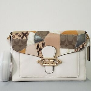 NWT! COACH LEATHER JADE MESSENGER BAG WITH PATCHWORK DETAIL. MSRP $498