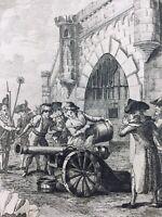 Nancy en 1790 Porte de Stanislas rare Gravure Révolution Française Humberg