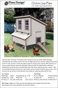 5'x6' Chicken Coop / Hen House Plans, Modern Roof Style, Design #90506M