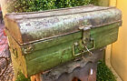 "Antique Vintage Metal Decor Storage Trunk Chest Key GREAT BUY IT NOW! 23 1/2"""